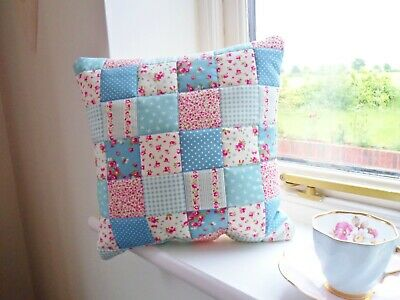 Patchwork Quilting Kit Lilac Purple Fabric Cushion Craft Easy Sewing Project!