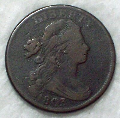 1803 Draped Bust LARGE Cent VF *RARE* S-261 Variety *Die Break* Authentic Coin • CAD $296.10
