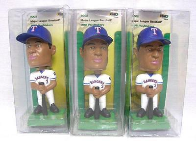 Lot Of 3 Alex Rodriguez A-Rod Texas Rangers Mini Playmakers Mlb Bobblehead A-4