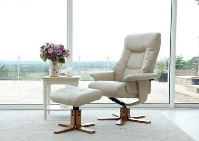 Shanghai Swivel Recliner Chair Reclining Armchair with FREE Matching Footstool