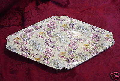Lord Nelson England Heather Chintz RELISH DIAMOND SHAPE