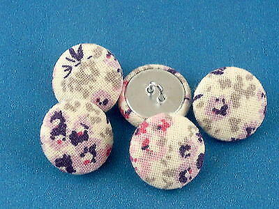 Fabric Covered Buttons - using Laura Ashley Tallulah - 2cm