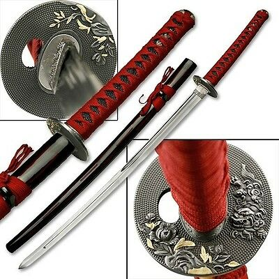 """41"""" Japanese Samurai Sword Stainless Steel with Scabbard Collectible"""