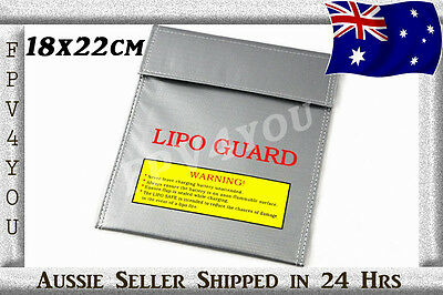 Lithium Polymer Charge Pack 18x22cm Sack LIPO BAG FIREPROOF HIGH QUALITY THICK