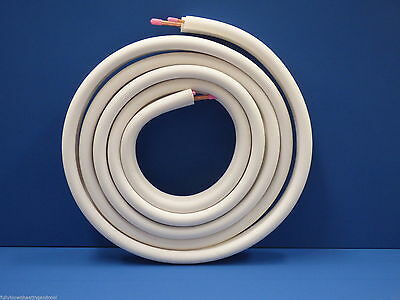 """Air Conditioner Tube 1/4"""" 1/2"""" Insulated  Copper Pipe Twin Pair 10 Metre  R410A"""