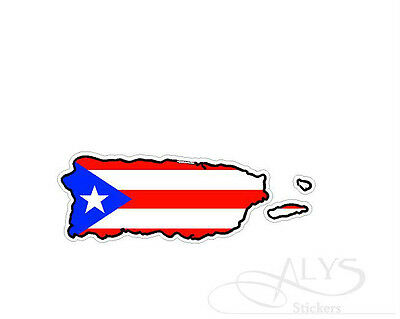Puerto Rico Island Map Flag Support & Rebuild Decals & Stickers