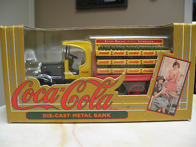 Coca Cola Hawkeye Delivery Truck Die Cast Metal Bank-  Nib 1994 - Ertl