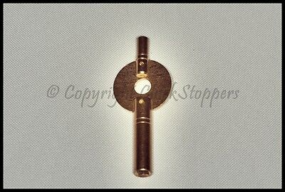 Double Ended Brass Carriage Travel Clock Winding Key Size 0 1 2 3 4 5 6 7 8 9 10