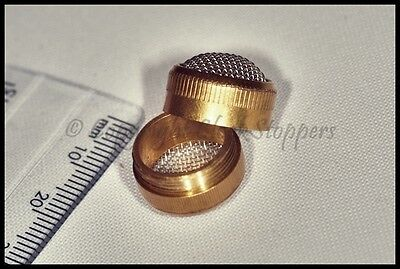Small Brass Ultrasonic Mesh Cleaning Basket Screw Type Small Watch Parts Holder