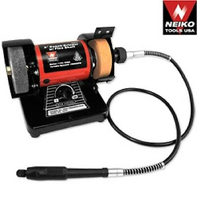 Mini Bench Grinder Polisher With Flexible Shaft Accessory