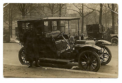 Photo Carte.automobile Voiture Ancienne Chauffeur Taxi