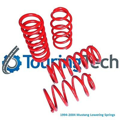 """Touring Tech Performance Lowering Springs 94-04 Mustang 1.6""""F/2.0""""R"""