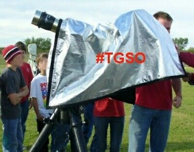 TeleGizmos #TGSO Solar Observing Hood for Coronado, PST, Lunt, Solar Filter