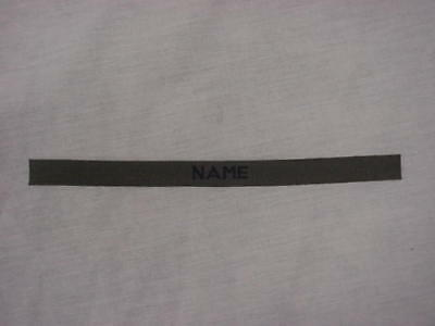 Custom Od Green Name Tape For Ecwsc Jackets And Helmet Bands