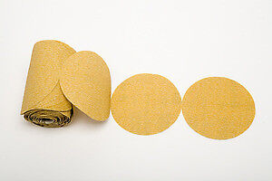 "Premium Gold 5"" PSA Sticky Back Self Adhesive Sanding Discs Roll 220 Grit"