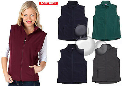 Ladies Soft Shell Vest Size 6 8 10 12 14 16 18 20 22 24 Softshell Fleece Lined