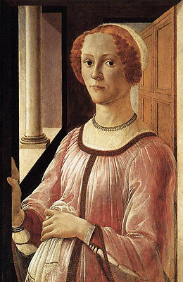 Huge art Oil painting Sandro Botticelli - Portrait of a young Lady on canvas
