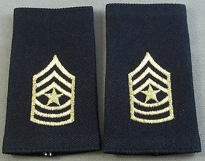 US Army Shoulder Marks - Epaulets - Sergeant Major - Small Size ( Black )