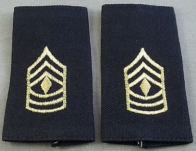 US Army Shoulder Marks - Epaulets - First Sergeant - Small Size ( Black )