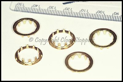 5 x Brass Dial Grommets 12mm Clocks Round Key Hole Repair Spares Parts Servicing