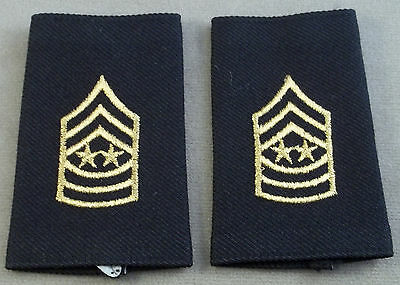 Sergeant Major Of The Army Shoulder Marks - Epaulets - Small Size ( Black )