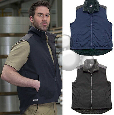 Mens Shower Proof Fleece Lined Vest Size S M L XL 2XL 3XL 4XL 5XL