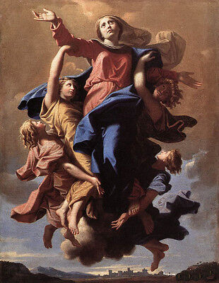 """Stunning Oil painting portraits Madonna the_assumption_of_virgin on canvas 36"""""""