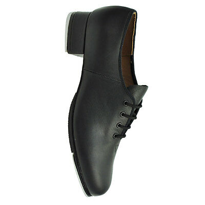 Bloch '301M' Men's Black Leather Jazz Tap Shoes