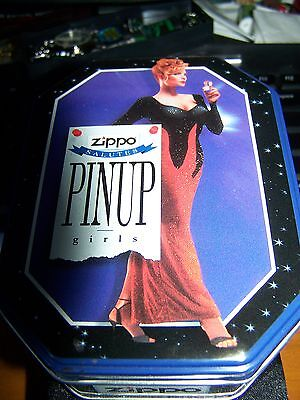 Zippo Salutes Pinup Girls Lighter New In Collectible Tin  1996 Collectible