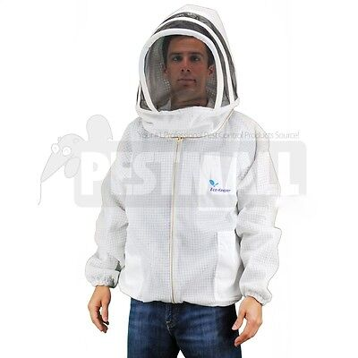Vented Bee Jacket -Eco-Keeper Premium Professional Beekeeping Suit -Large Size
