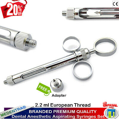 Dental Aspirating Cartridge Syringe 1.8 ml Anesthetic Syringes Siringa Dentali