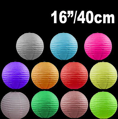 """Paper Lanterns Colourful Wedding Party home Party Chinese Decoration  16"""" / 40cm"""
