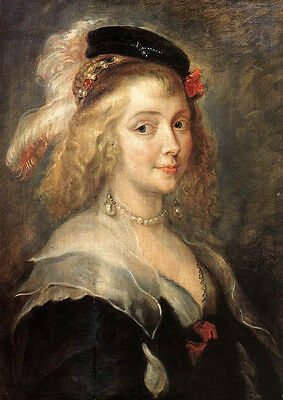 Oil painting Peter Paul Rubens - Portrait of Helena Fourment on canvas
