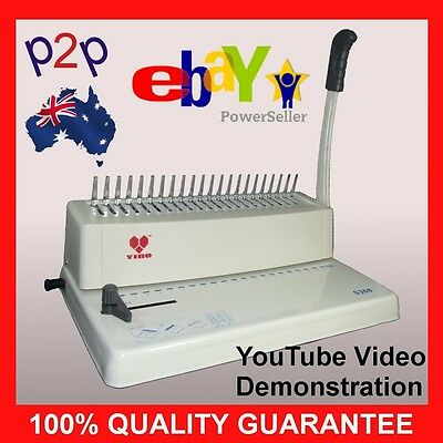 A4 Solid Steel Construction Comb Binding Machine Hole Punch 21 Ring Paper School