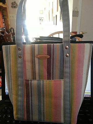 Striped Longaberger Tote