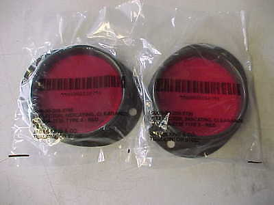 MILITARY ISSUE Truck Red Reflectors Jeep Willys WC M38 M151A1 M35 M37 M 923