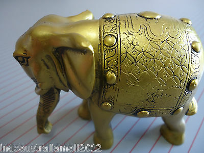 Large Chinese Golden Elephant Statue for Wish Fulfilling 110 x 90mm (FS-S81)