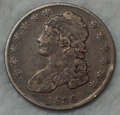 1836 BUST HALF DOLLAR *SILVER* O-112 *RARE* XF+ Bar Dot Nice Tone PRICED TO SELL