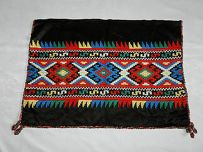 """vintage hand embroidered pillowcase Dimensions 25""""/17.5""""   n4685"""