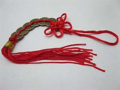 1 x Chinese Fengshui 6-Emperors Coins with Tassels for Wealth(FS-CO32)