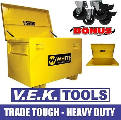 White International Ute,truck,site Steel H/duty Tools Box-Sp With Wheel Kit