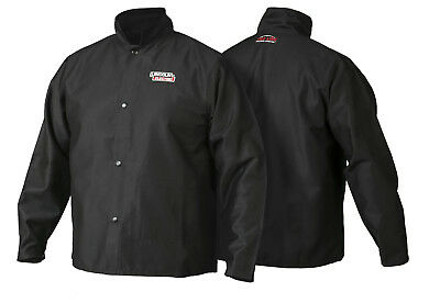 Lincoln K2985 Traditional FR Cloth Welders Welding Jacket Size Large