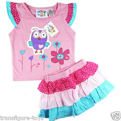 new Girls summer Giggle and Hoot pink top 3 layer dress size 1 2 3 4 5 in SYD