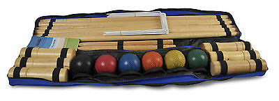 Croquet Pro Set 6 Player Wooden Croquet Set Garden Games Family Game Family