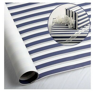 "10 sheets 23""X16.5"" Christmas Jewelry Gift wrapping paper- Blue & Silver Stripe"
