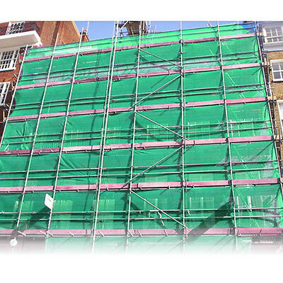 1M X 50M Green Scaffold Debris Safety Fence Netting Protection Knitted Fabric
