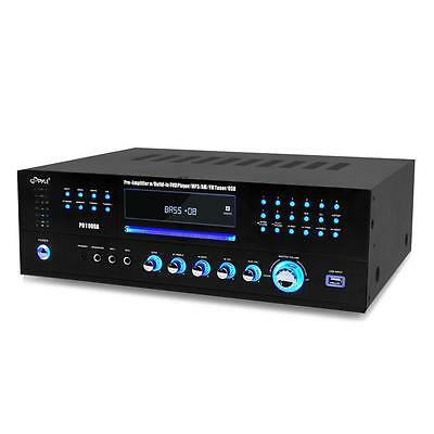 PD1000A PYLE 1000W HOME HOUSE THEATER FM RECEIVER CD DVD MP3 USB AMP AMPLIFIER