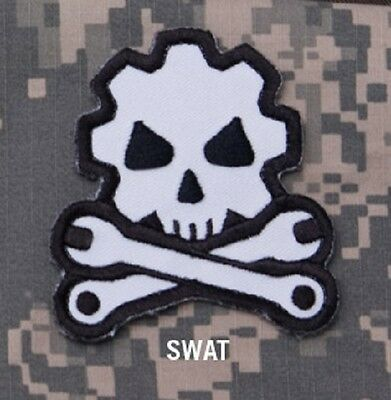 DEATH MECHANIC - SWAT - GEARHEAD TACTICAL BADGE MORALE VELCRO MILITARY PATCH