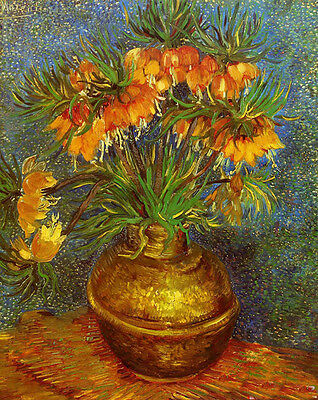 Art Oil painting Vincent Van Gogh - Fritillaries in a Copper Vase