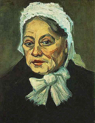 Oil painting Vincent Van Gogh - Head of an Old Woman with White Cap